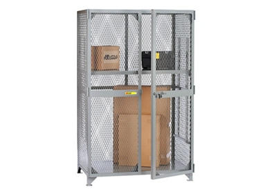"Metal Mesh One Adjustable Shelf Storage Locker -78""H x 61""W"
