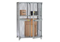 "Metal Mesh One Adjustable Shelf Storage Locker - 78""H x 49""W"