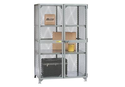 "Metal Mesh Two Shelf Storage Locker - 78""H x 61""W"