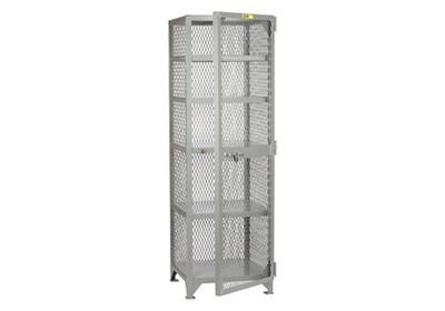 "Compact Metal Mesh Storage Locker- 78""H x 25""W"