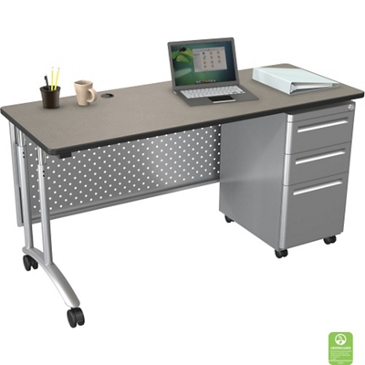 "Adjustable Computer Desk - 60""W x 24""D"