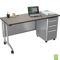 "Adjustable Computer Desk - 60""W x 24""D"