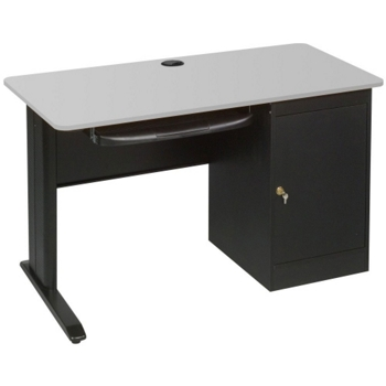 Computer Desk With Locking Cpu Cabinet 13451 And More Lifetime Guarantee