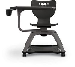 Soft Caster Tablet Chair with Cup Holder