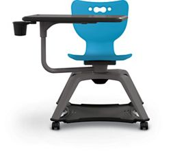 Hard Caster Tablet Chair with Cup Holder