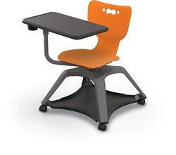 Soft Caster Tablet Chair