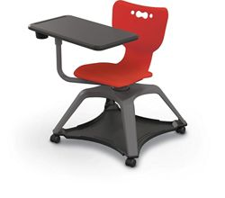 Hard Caster Tablet Chair