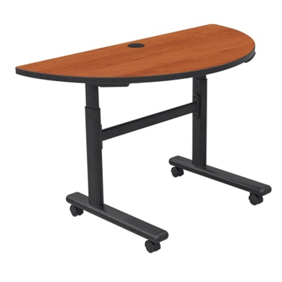 Half Moon Adjustable Height Mobile Flipper Table