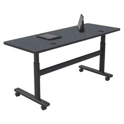 "Adjustable Height Mobile Flipper Table - 60""W"