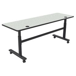 "Adjustable Height Mobile Flipper Table - 72""W"
