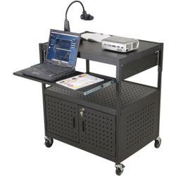 AV Cart with Locking Cabinet