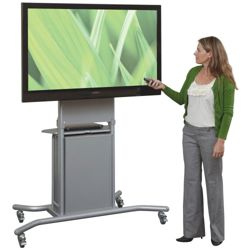 Mobile TV Cart with Cabinet