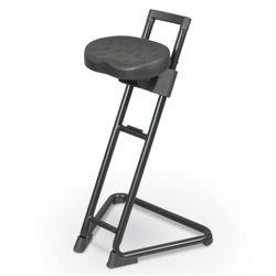 Height Adjustable Stool with Molded Polyurethane Seat