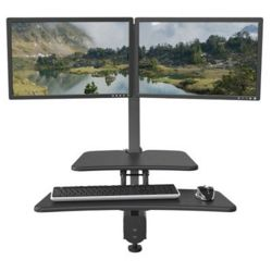 Dual Monitor Sit Stand Station