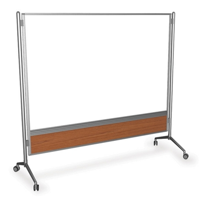 6' x 6' Glass Mobile Markerboard