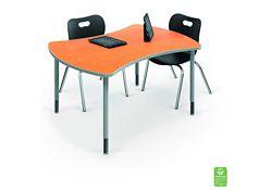 "Large Curved Desk - 35.7""D x 47.4""W"