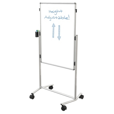 Melamine Adjustable Height Dual Sided White Board