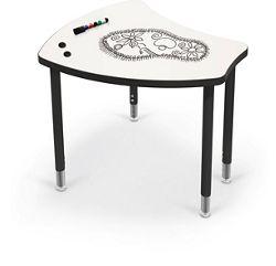 Porcelain Steel Dry Erase Desk