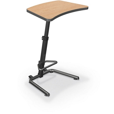 "Height Adjustable Desk with Footrest - 26.5""W x 20""D"
