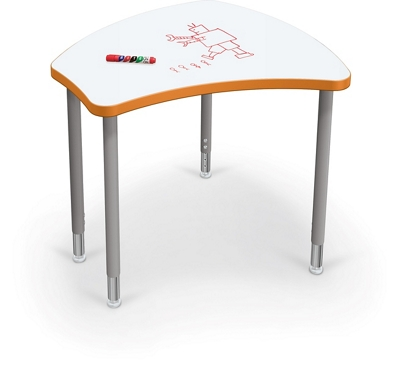 "Adjustable Height Whiteboard Desk - 30""W"