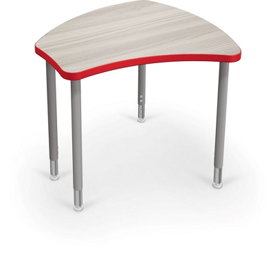 "Adjustable Height Desk with Colored Edge Banding - 35""W"
