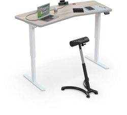 "Electric Height Adjustable Chevron Top Desk - 68""W x 32""D"