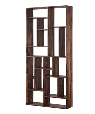 "19 Compartment Bookcase Solid Walnut - 86""H"