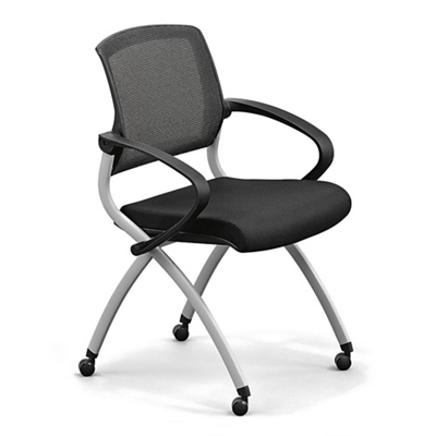 Nex Polyurethane Nesting Chair with Arm and Mesh Back