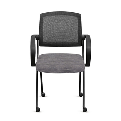 Nex Fabric Nesting Chairs With Armesh Back Set Of Six By Nbf Signature Series