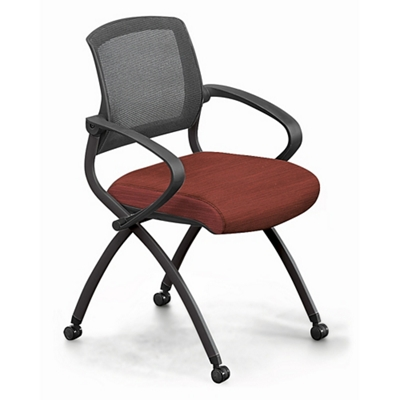 Nex Fabric Nesting Chair With Arm And Mesh Back By Nbf Signature