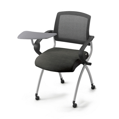 Superb Nex Fabric Nesting Chair With Tablet Arm And Mesh Back, 51661