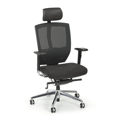 Arris High-Back Mesh Chair with Memory Foam Patterned Fabric Seat