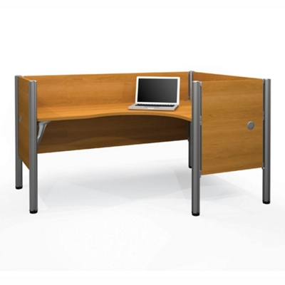 "Right L-Desk with Four 43""H Privacy Panels"