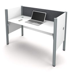 "Single Workstation with 43""H Tack Board Panel"