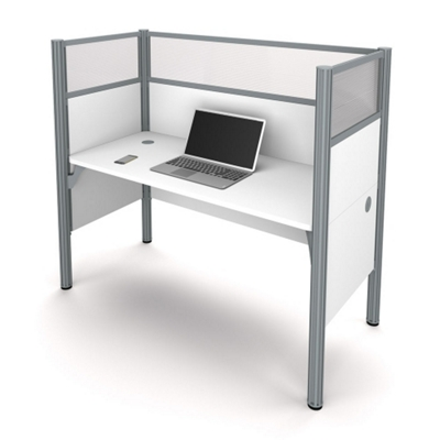 "Single Workstation with Three 55.5""H Acrylic Panels"