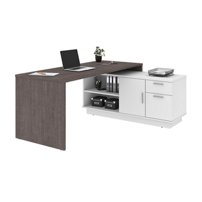 Home Office L-Desk with Storage