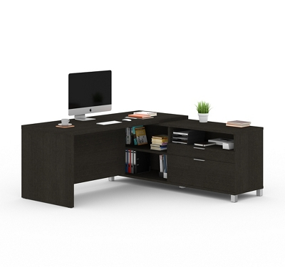 "L-Desk with Drawers - 71""W"