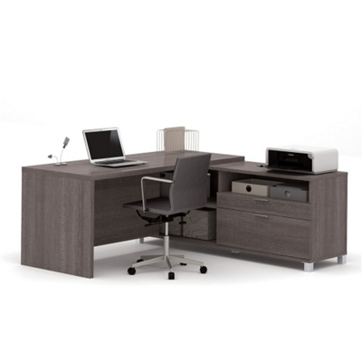 """L-Desk with Drawers - 71""""W"""