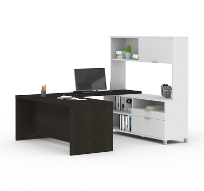 "U-Desk with Hutch - 71""W"