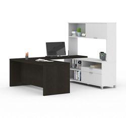 """U-Desk with Hutch - 71""""W"""