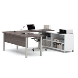 "U-Desk with Open Storage - 71.1""W"