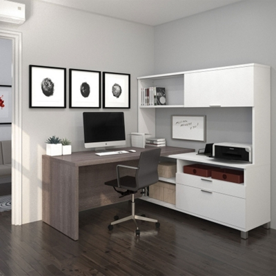 "L-Desk with Hutch - 71""W"