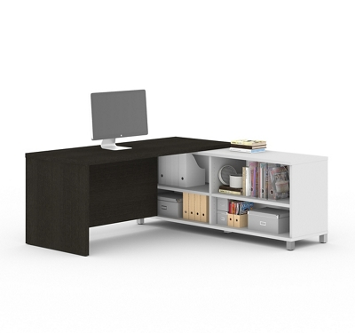 "Pro Linea Four Shelf L-Desk - 71""W"