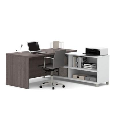 "Pro Linea Four Shelf L-Desk - 71""W"