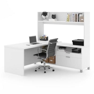 """L-Desk with Open Hutch - 71""""W"""