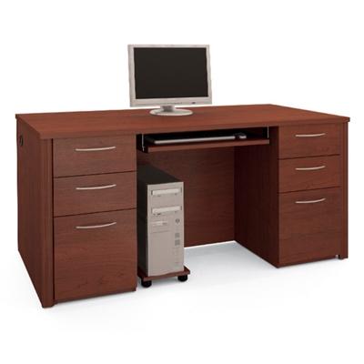 """Double Pedestal Computer Desk - 66""""W"""