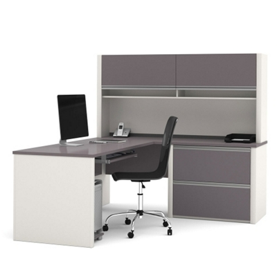 L-Desk with Hutch