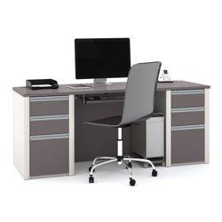Bowfront Computer Desk