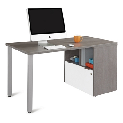"Boardwalk Compact Desk with One File Drawer - 60""W"