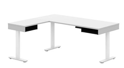 Height-Adjustable L-Desk